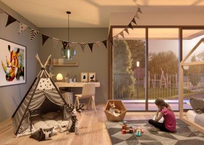 Suikerpark Brikkerij Voorbeeldinvulling kamer met terras