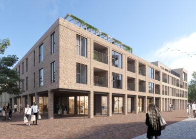 Nieuwbouwappartementen aan bruisend, nieuw plein te koop in Veurne!
