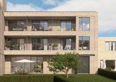 Appartementen in Veurne met terras en gemeenschappelijke ruimtes
