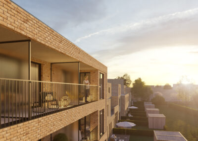 Avondzon op appartementen in Veurne